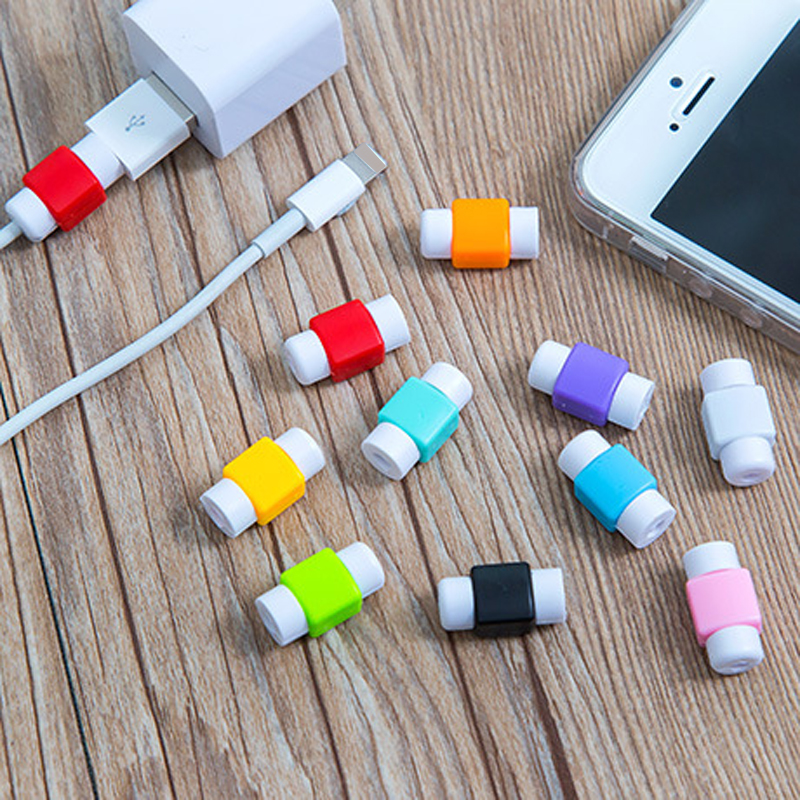 imágenes para 100 unids cable usb colorido protector de la cubierta case para apple iphone7 4S 5S 6 Plus 6 S SÍ Ahorrar a Accesorios Para Auriculares Cable de Datos Del Cargador