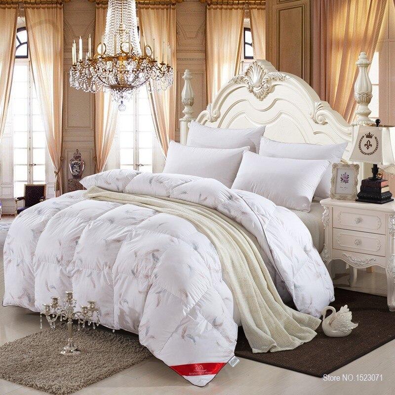 27d36b8c296 100% white duck goose down winter quilt comforter blanket duvet filling  with cotton cover