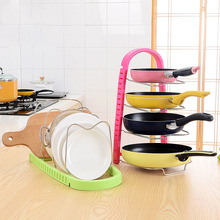JUCESUPER Japan South Korea Fine Pot Rack Kitchen Multi – function Storage Shelves Drying For Dishes About 450*250*300MM