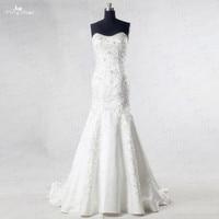 RSW984 Silver Embroidery Satin Wedding Dress Mermaid