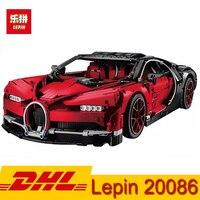 (В наличии) DHL Лепин 20086 4031 шт техника серии суперкар Bugatti автомобиль строительные блоки кирпичи игрушки Совместимость Legoingly 42083