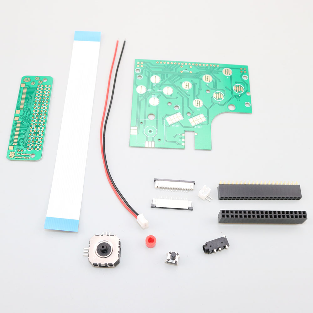 Image 3 - ChengHaoRan 6 Buttons PCB Board Switch Wire Connector Kit For Raspberry Pi GBZ For Game Boy GB Zero DMG 001-in Replacement Parts & Accessories from Consumer Electronics