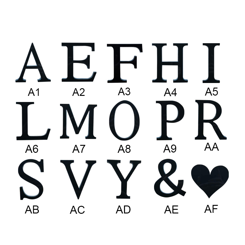 DIY Letters 3D Acrylic Mirror Wall Sticker Decals Making