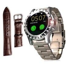 เงินT20สมาร์ทนาฬิกานาฬิกาข้อมือบลูทูธIPS H Eart Rate Monitor Pedometerกล้องสำหรับiPhone 5,6หุ่นยนต์มาร์ทโฟนมือถือ
