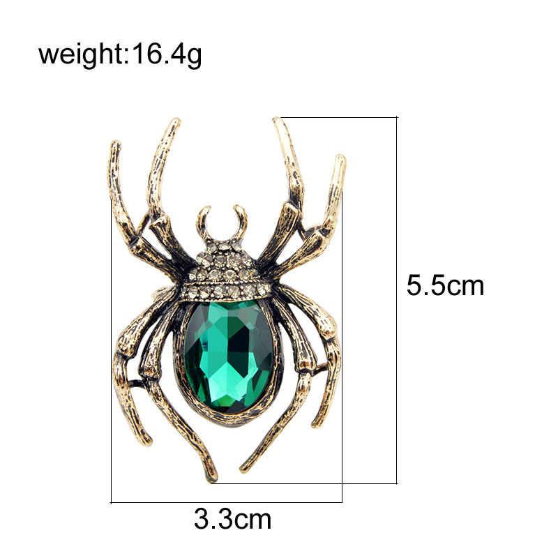 CINDY XIANG เข็มกลัดสำหรับผู้หญิงคลาสสิกแมงมุมแมลง Pins สำหรับ Man คอด้านหน้าเสื้อผ้าฮาโลวีนเครื่องประดับของขวัญ Charms 2018