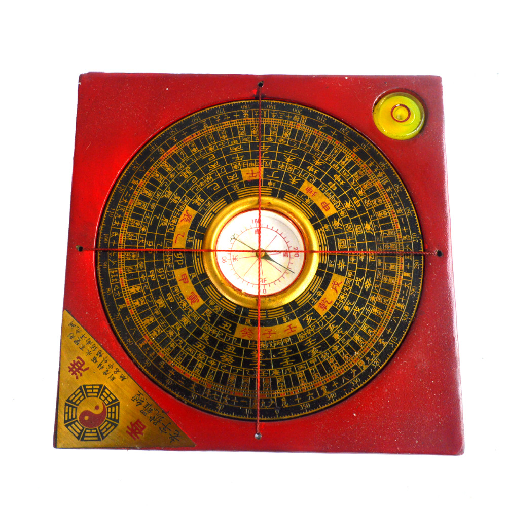 vintage feng shui luo pan chinese compass w case j2353. Black Bedroom Furniture Sets. Home Design Ideas