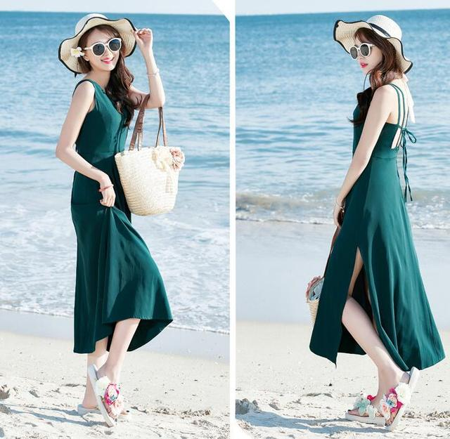 2017 Bohemia Summer Dress Sexy Plus Size Women Clothing Black Long Dress Vestidos Hippie Boho Beach Seaside Spaghetti Strap