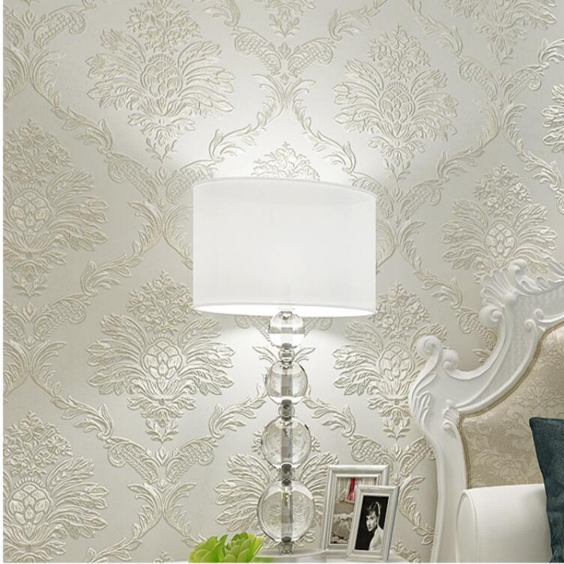 цены Beibehang Papel de parede luxury wallpaper 3D living room bedroom embossed 3d wallpaper roll fashion wallpaper for walls 3 d