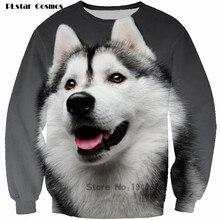 PLstar Cosmos brand clothes Animal 3D Print sweatshirt Huskydog Men Sweatshirt Character Fashion Wear women/men size S-5XL