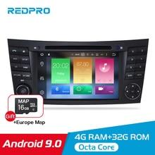 Android 9.0 Car Radio GPS Navigation Player For Mercedes Benz/w211/e200/e300/e350 2002-2008 Auto DVD Video Stereo FM Multimedia