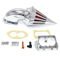Motorcycle Chrome Spike Intake Air Cleaner Filter Kit For Kawasaki Vulcan 1500 1600 2002 2009