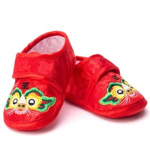 Baby Cotton Shoes Chinese Traditional Embroidery Baby Toddler Shoes Infant Soft Bottom Baby Cloth Shoes New Tiger Auspicious