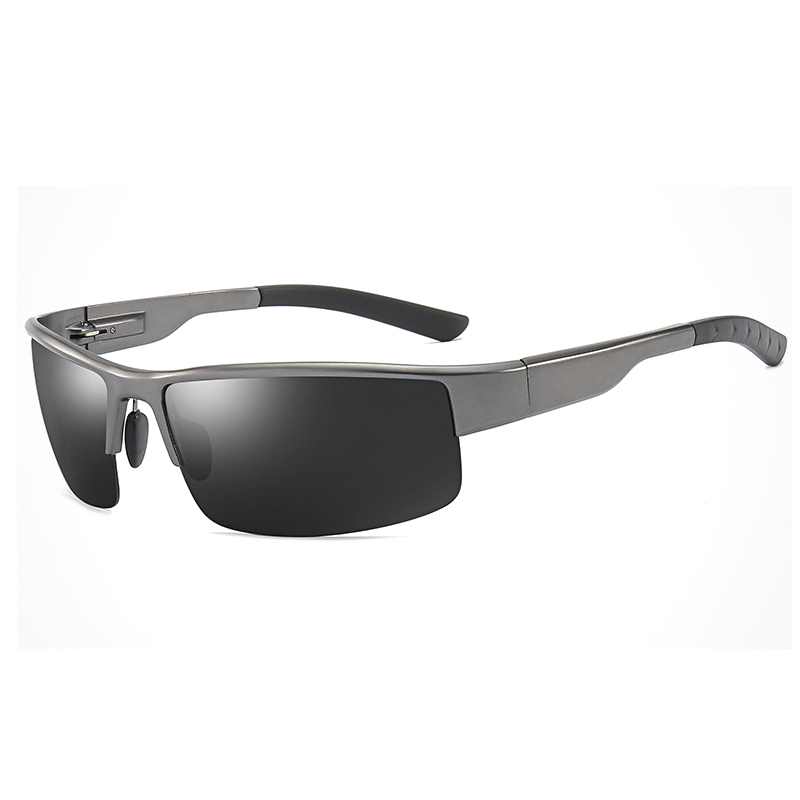 Ellen Buty Sunglasses Men Polarized Aluminium Magnesium Retro Square Male Sun Glasses Uv Gradient Driver Glasses