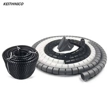 KEITHNICO Cable Organizer Wire Management Protector Cable Winder Coiled Tube Sleeve Desktop Computer Power Cord Storage Wrap