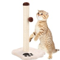 Durable Sisal Cat Scratching Post Harmless For Pets With Squeaky Cartoon Animals Good Pet Toys Detach Convenient To Clean Store