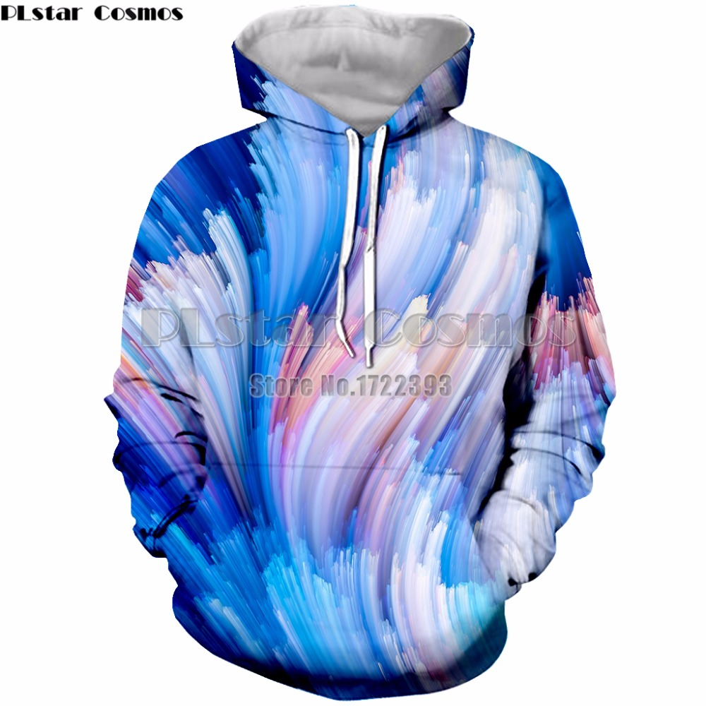 PLstar Cosmos Brand Hooded Sweatshirt Men/Women 3d Colorful Paint Print Hoodies Long Sleeve Autumn Pullover Tops Hoody