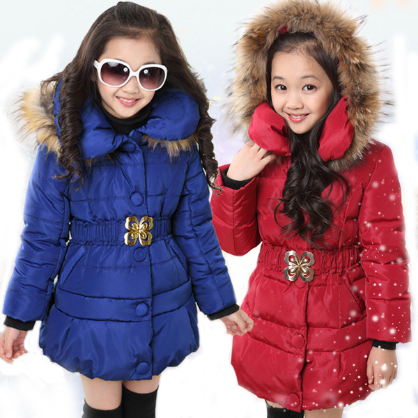 5-14 Years Winter Jacket For Girls Fashion Children Hooded Down Cotton Girls Parka Kids Winter Outerwear Coat Girls Warm Clothes 2018 winter down jacket for girls thick long warm hooded girls winter coat 5 14 years children parka teenage girls outerwear