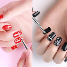 3Pcs/set Nail Art Brush Crystal Acrylic Thin Liner Drawing Pen Painting Stripes Flower Nail Art Manicure Tools(China)