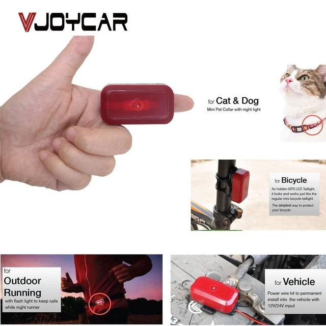 VJOYCAR T630 Waterproof Mini GPS Tracker Car Children Pet Dog Cat Bike Motorcycle Real Lamp Night Runner Flashing Belt 50