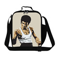 Dispalang new arrival top quality classic Bruce Lee cartoon lunch bags for teenagers children picnic lancheira thermal food bags