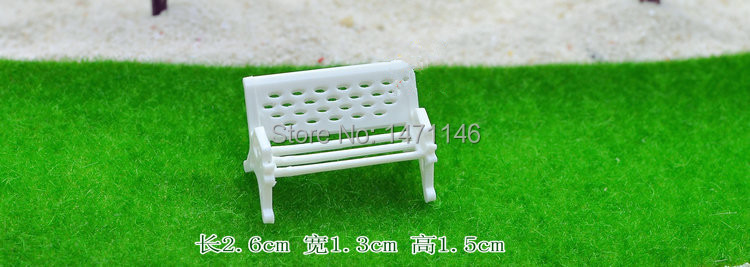5pcs/Hot selling/mini plastic white chair/fairy garden gnome/terraium decoration/bonsai/Valentine's Day/DIY/children gifts/