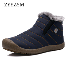 ZYYZYM Mens Snows Boots Winter Super Keep Warm Cotton Shoes Unisex Casual Fashion Plush Male Large size