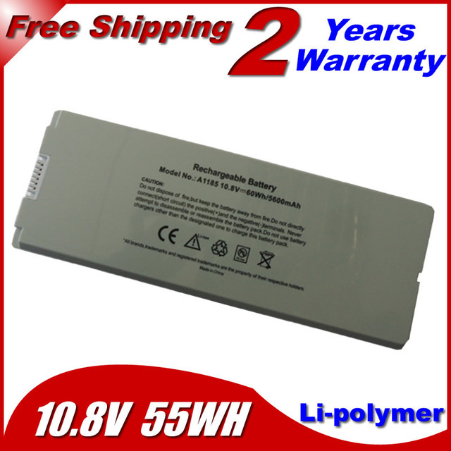 """JIGU 55wh White Laptop Battery For apple MacBook 13"""" MA254 MA255 MA699 MA700 a1185 ma566 ma561 MA561FE/A MA561G/A MA561J/A"""