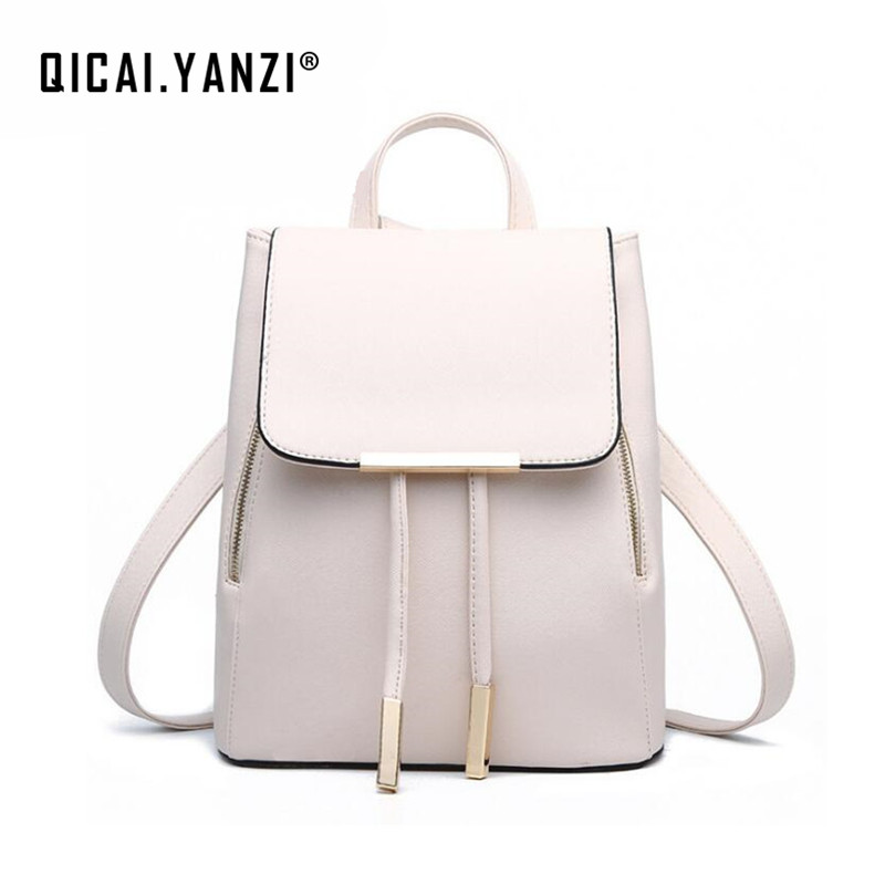 Summer New Women Fashion Zipper Backpacks PU Leather Travel Satchel School Bags Mujer Candy Color Mochila