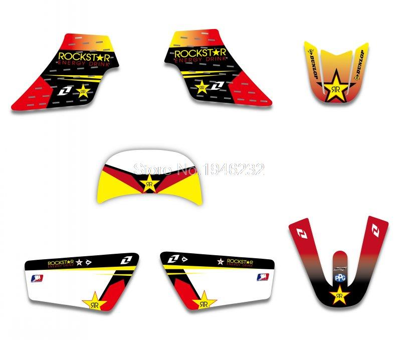 Enjoy Mfg Graphics Kit /& Custom Number Plates Compatible Fit for Yamaha PW 80 YELLOW