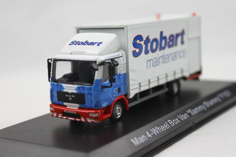 Atlas 1 76 man 4 wheel box van f1521 truck stobart alloy for Atlas car aluminium