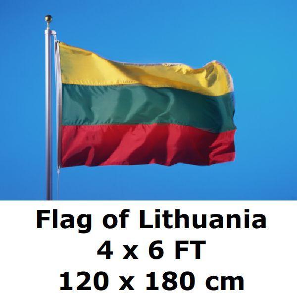Litauen Hissflagge litauische Fahnen Flaggen 60x90cm