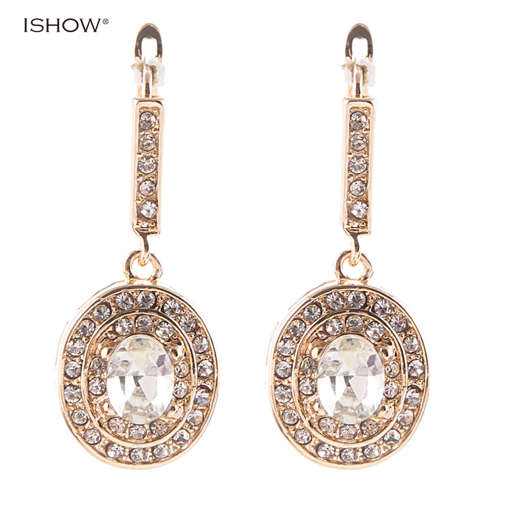 Christmas Gifts 3.5cm Glam Bride Bridemaid Earrings Gold Bridal Jewelry Luxurious Statem ...
