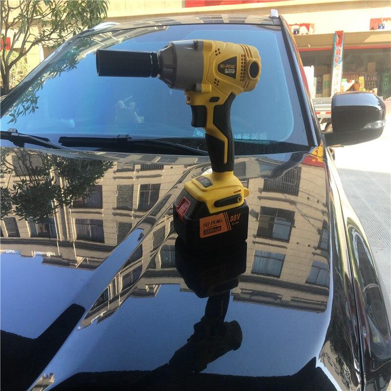 1/2 ''литий ионный 88 В в 8000ма Электрический ударный гаечный ключ автомобильный гаечный ключ строительные леса литиевый Электрический пневмат