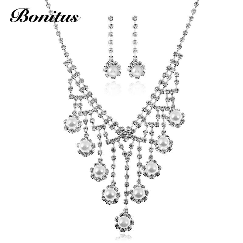 bonitus jewelry store  newarrival fashion plated silver classic bridal crystal for luxury