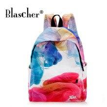 Blascher Личность печати рюкзак печати холст Рюкзаки школьная сумка для подростков дамы Повседневное милый рюкзак Bookbags