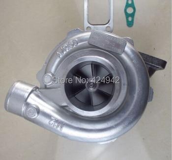 T3/T4 GT35 GT3582 компрессор/r 0,50 турбины/r 0,63 воды и масляным охлаждением T3 фланец 4 болта турбо Турбокомпрессор >> Quality Auto Parts