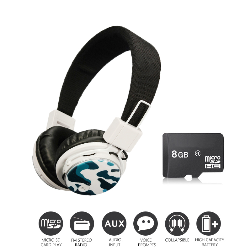Economic Set: Original NIA 8809S + 8 GB Micro SD Card a Set Wireless Headphone sport for tv with fm economic methodology