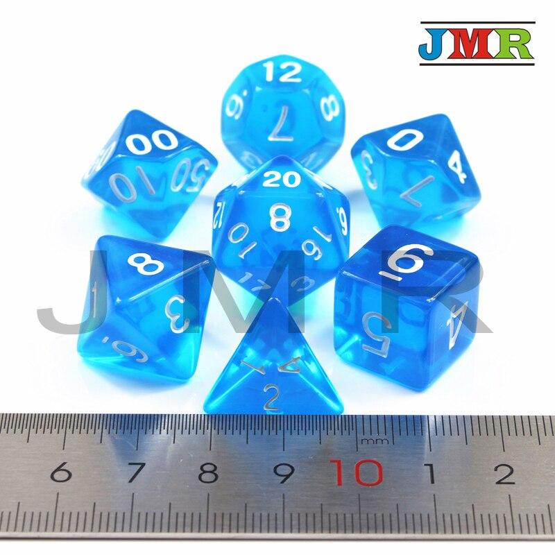7 шт./компл. многогранник Rpg Dnd игровые кости, набор D4 D6 D8 D10 % D12 D20, идеально подходит для развлечений, стол-игры, настольные игры