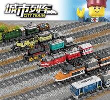 Новейший KAZI Technic питание от электросети legoing City Train скоростные железнодорожные строительные блоки кирпичи Подарочные игрушки для детей