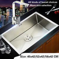 Free Shipping Fashion Kitchen Sink Durable 304 Stainless Steel 4 Mm Hand Made Single Slot Hot