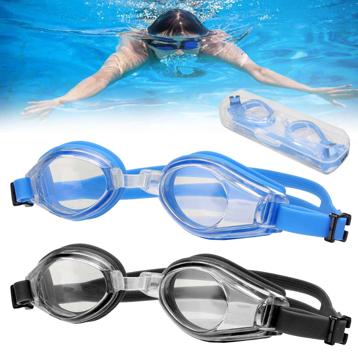Anti Fog Swimming Goggles Sports Eyewear Swimming glasses for Men Women Boys Girls Adult Junior Kids With Box ...