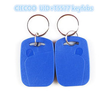 Dual Chip Frequency UID+T5577125Khz RFID Proximity EM ID Card Token Tags Key Keyfobs for Access Control Time Attendance