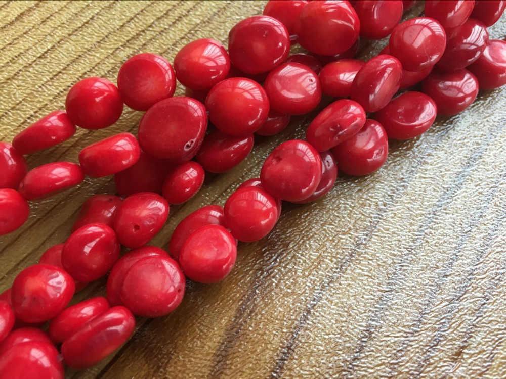 "New 10mm natural Red Coral Freeform Loose Beads 15 "" AAA AAAAAA Free shipping"