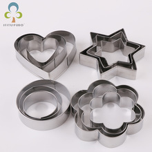 Cutter Mold Baking-Mould-Tools Cookie-Biscuit Flower-Shape Star Round Stainless-Steel