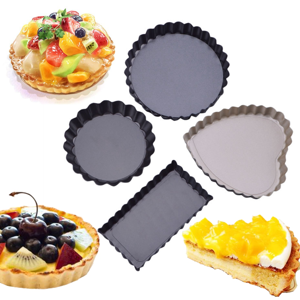 Carbon Steel for Kitchen Cooking Baking 28 cm Quiche Pans Removable Used As Pie Pan for Baking BESTZY Non-Stick Carbon Steel Quiche Pan Tart Pan with Removable