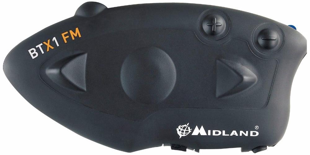 MIDLAND BTX1 Motorcycle Bluetooth Helmet Headset Interphone FM Motorbike BT Intercom Hands-free Calls 800M