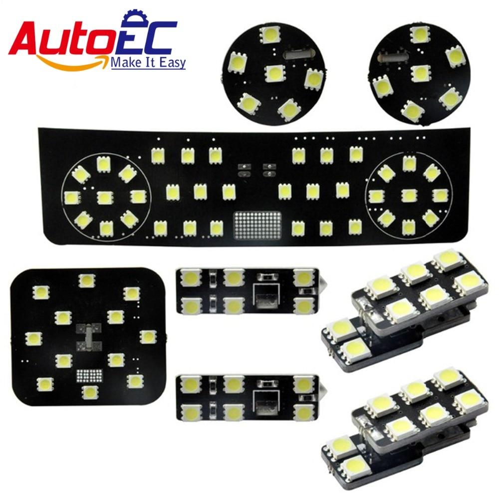 AutoEC 8pcs/set Car Festoon dome panel light lamp bulb Interior Dome&Map Reading Lights  kit  for skoda superb #LDK14