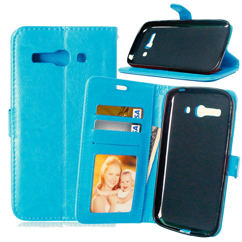 For Cover Alcatel One Touch Pop C9 Case Luxury Retro Wallet PU