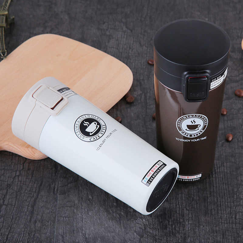 9cc3db8bc41 Detail Feedback Questions about Hot Fashion 380ml Stainless Steel Coffee  Mugs Insulated Water Bottle Tumbler Thermos Cup Vacuum Flask Premium Travel  Coffee ...