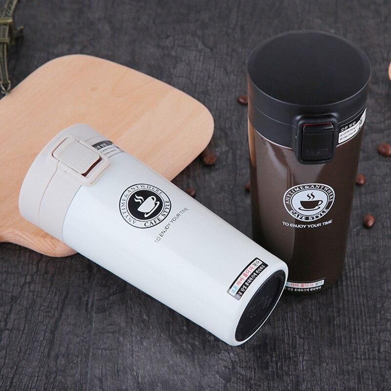 Heißer Mode 380 ml Edelstahl Kaffee Becher Isolierte Wasser Flasche Tumbler Thermos Tasse Vakuum Glaskolben Premium Reise Kaffee Becher